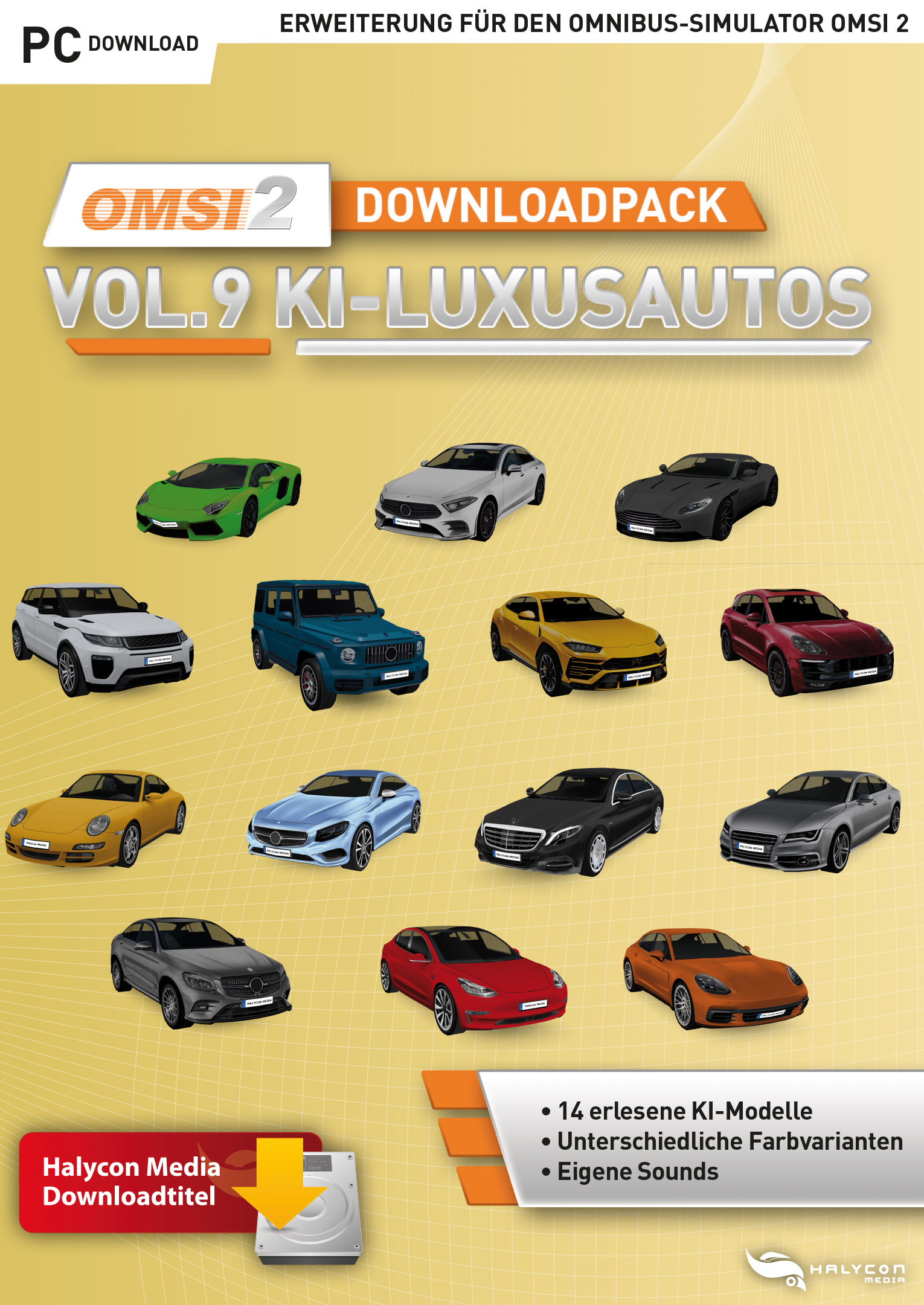 Packshot Halycon OMSI 2 Downloadpack Vol. 9 Luxury Cars