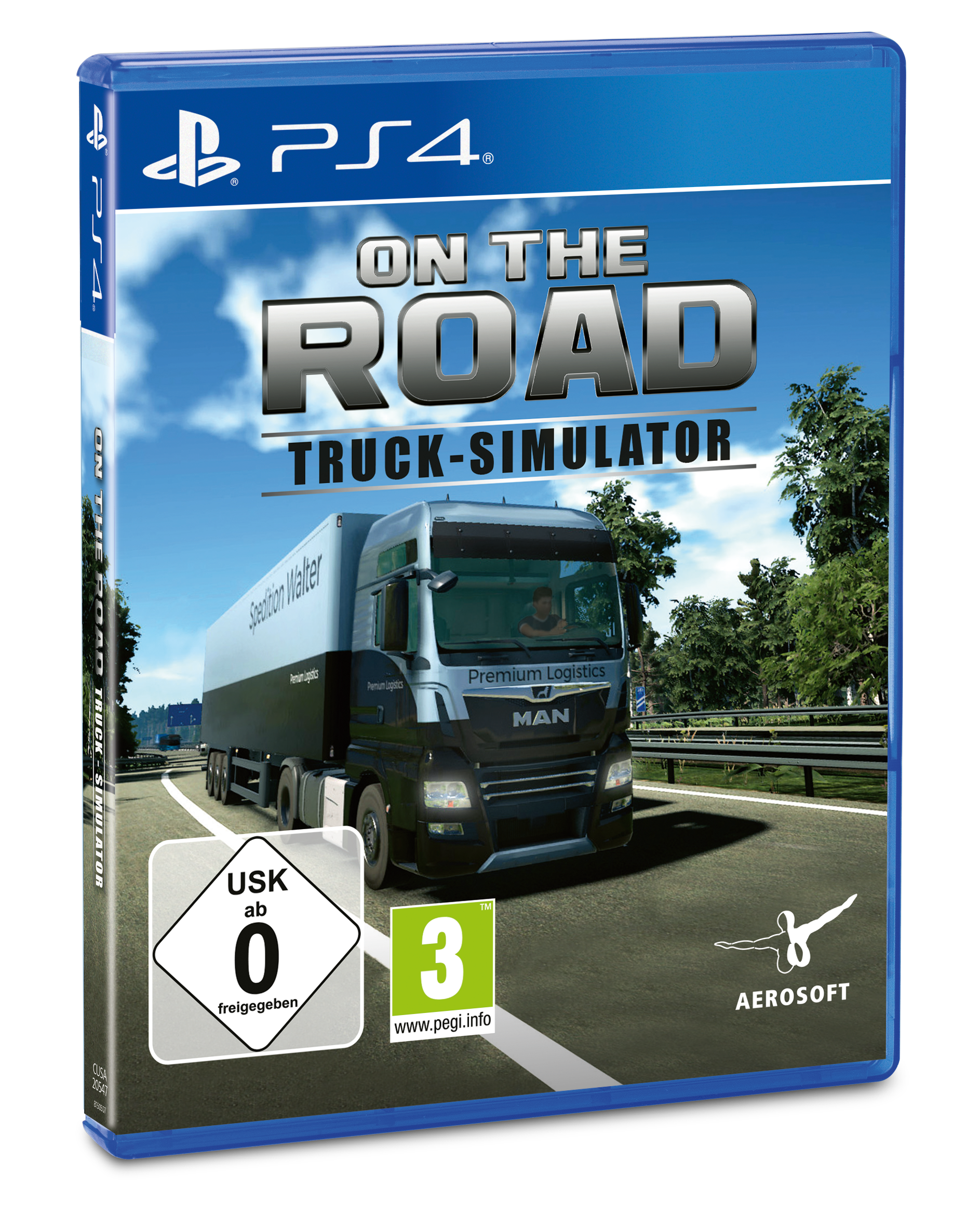 Packshot On The Road – Truck Simulator für PS4