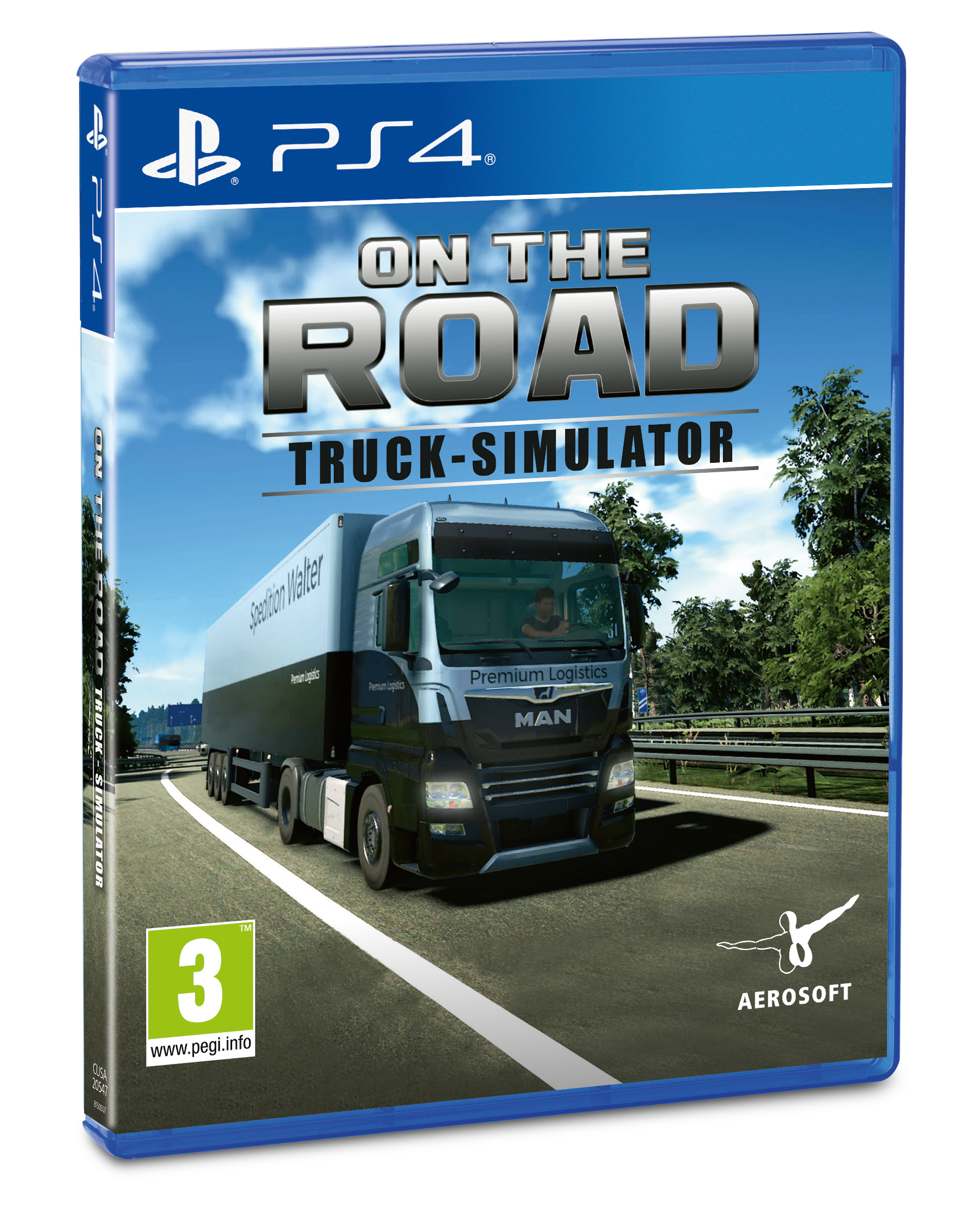 Packshot On The Road – Truck Simulator for PS4