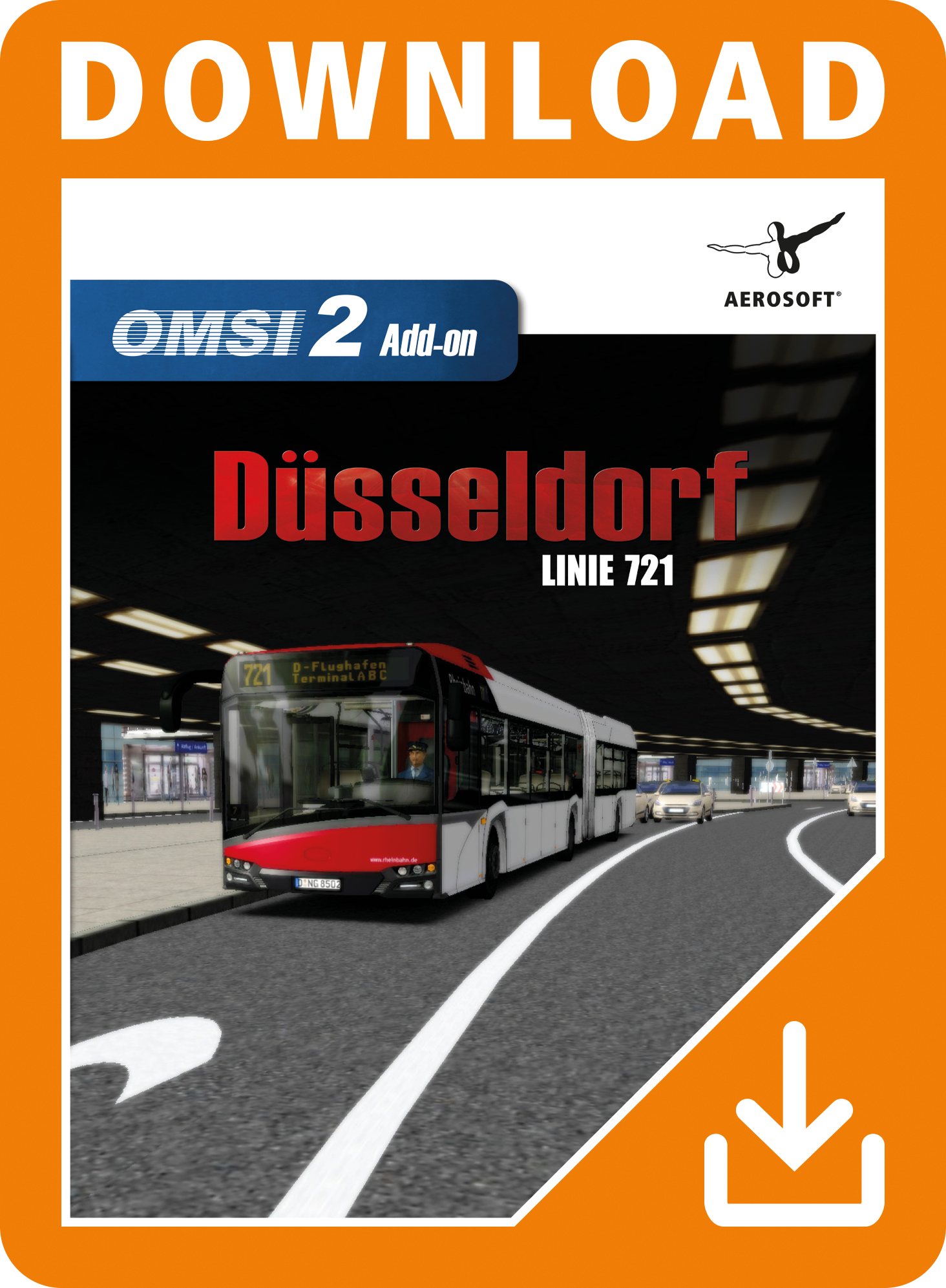Packshot OMSI 2 Add-on Düsseldorf Linie 721