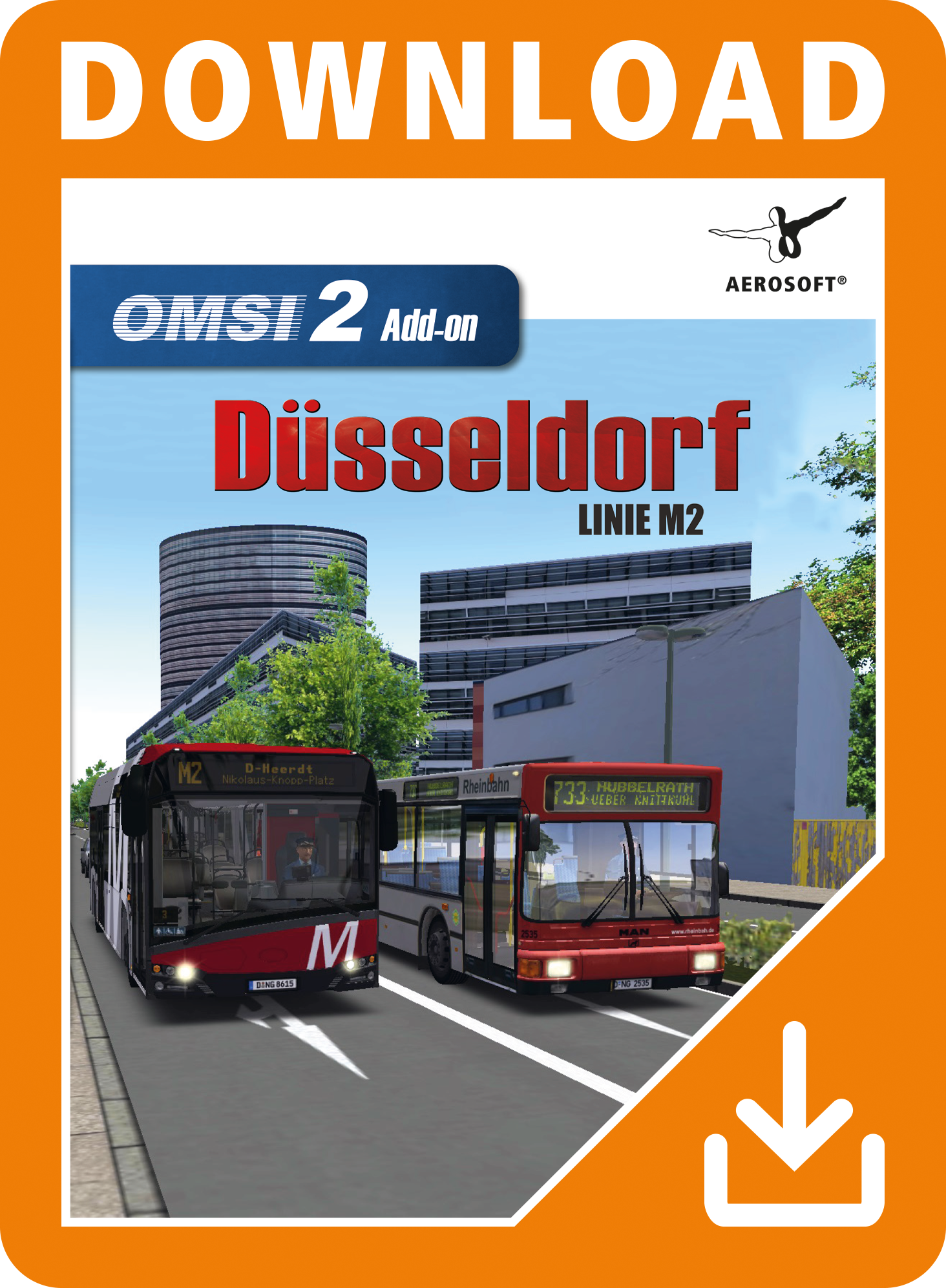 Packshot OMSI 2 Add-on Düsseldorf Linie M2