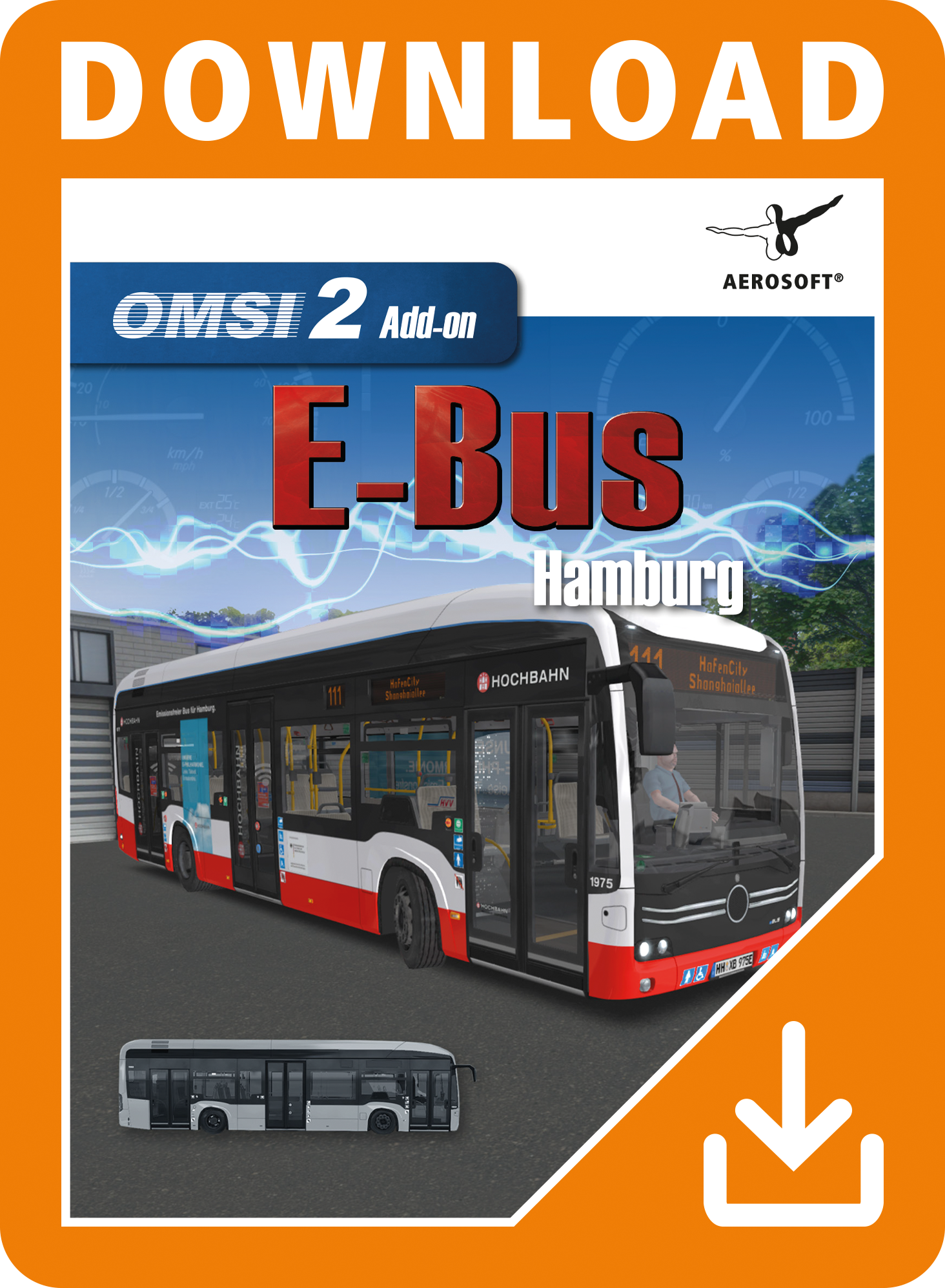 Packshot OMSI 2 Add-on E-Bus Hamburg