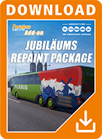 Packshot Fernbus Simulator Add-on Anniversary Repaint Package
