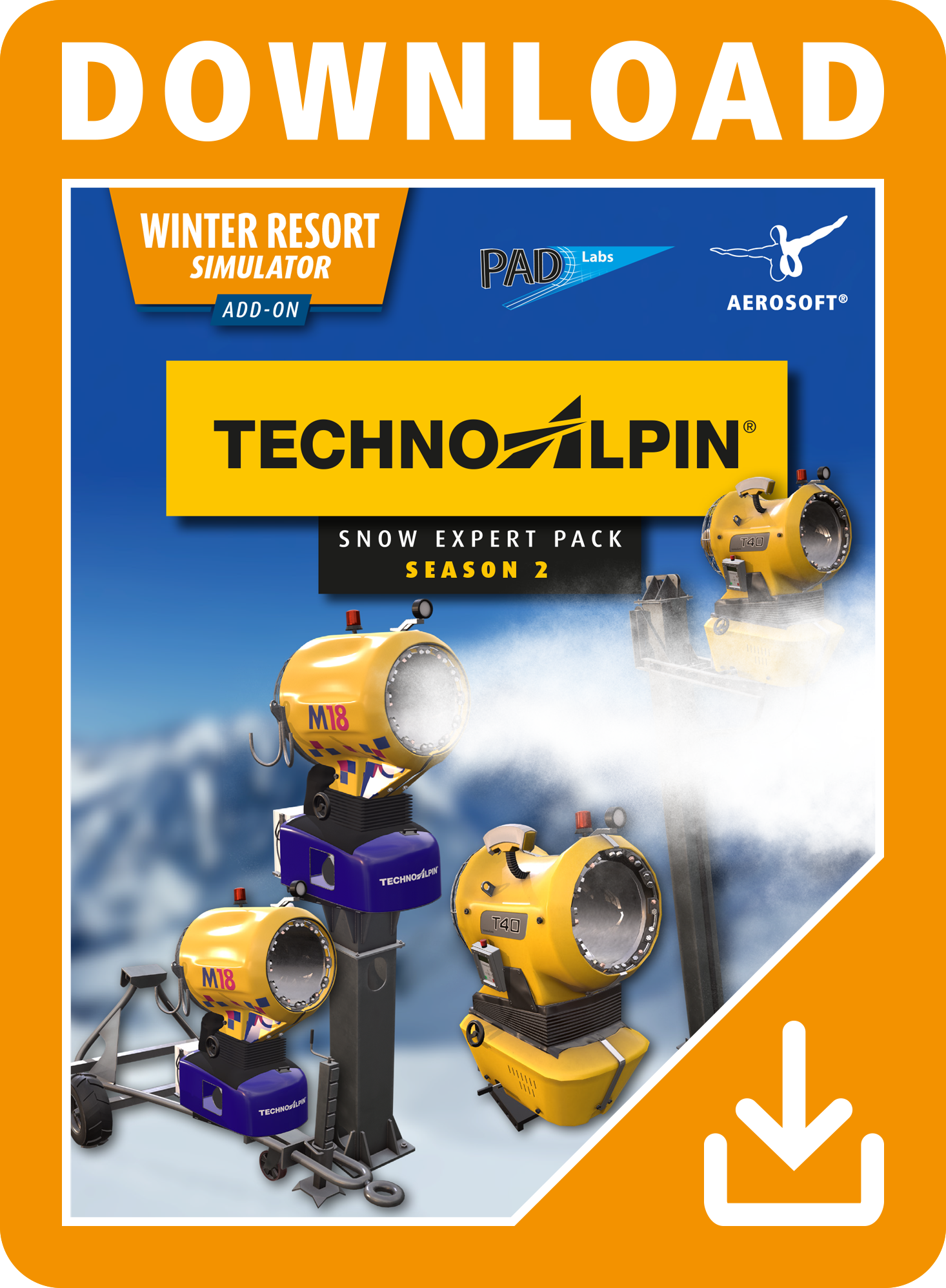 Packshot Winter Resort – TechnoAlpin Pack Season 2