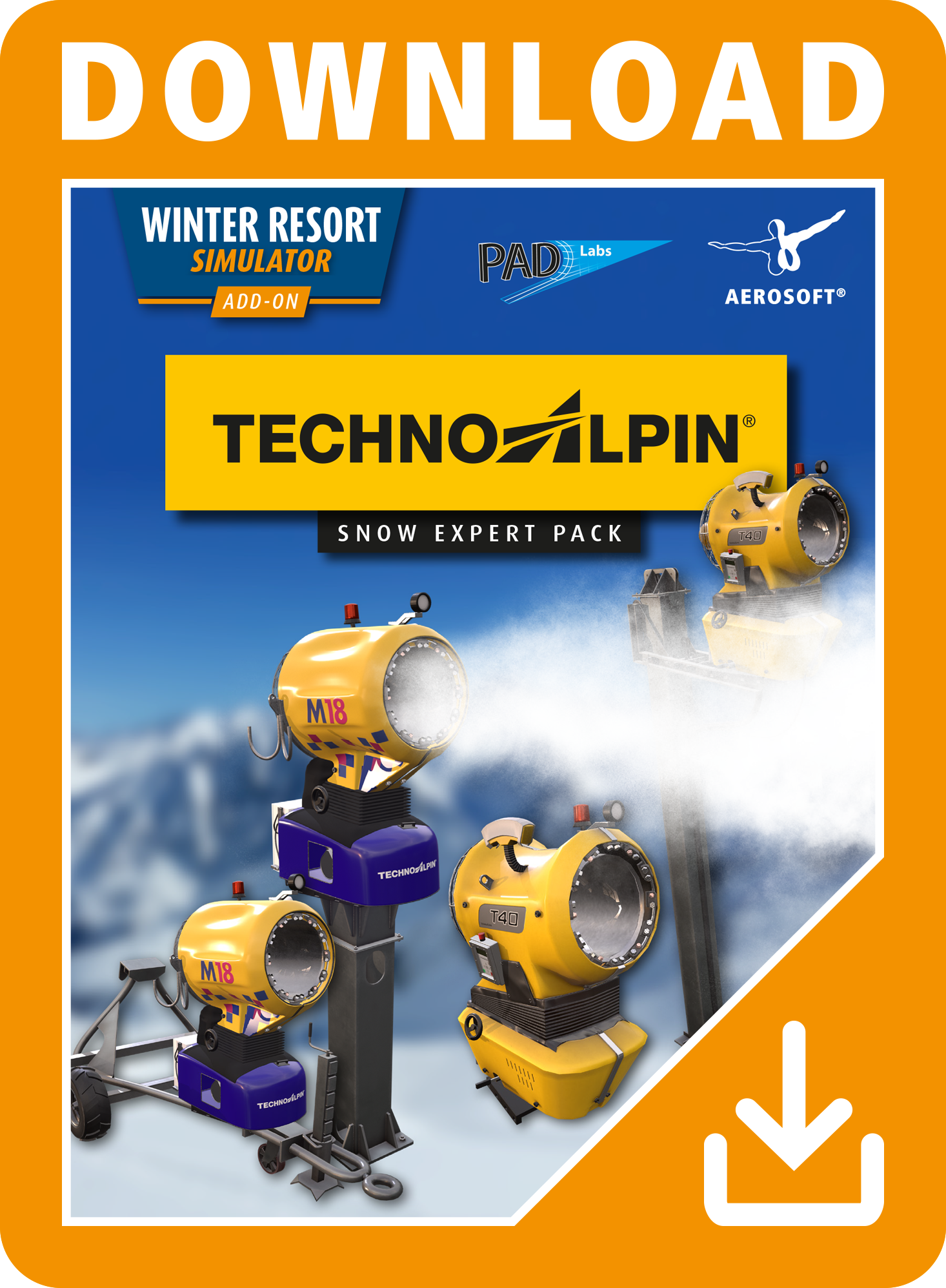 Packshot Winter Resort Simulator Add-on Techno Alpin Pack